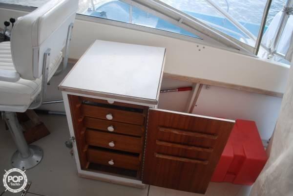 Behind Helm Station, Cabinet Door Open