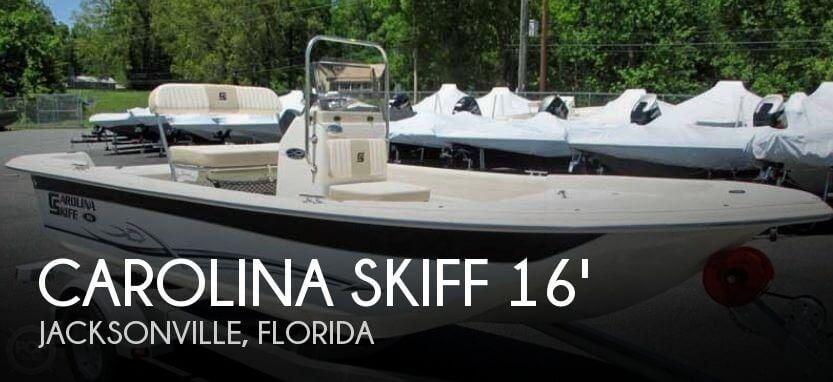 Carolina skiff 16 jvx cc for sale in jacksonville fl for for 16 foot aluminum boat motor size