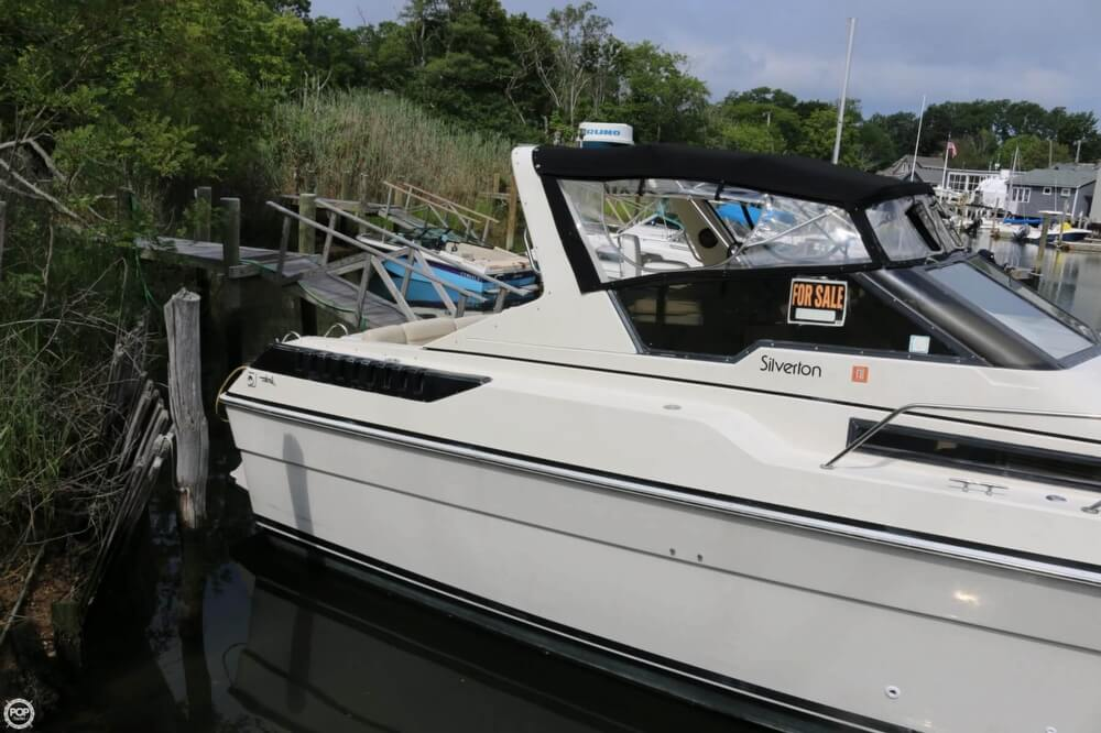 1987 Silverton boat for sale, model of the boat is 34 Express & Image # 24 of 40
