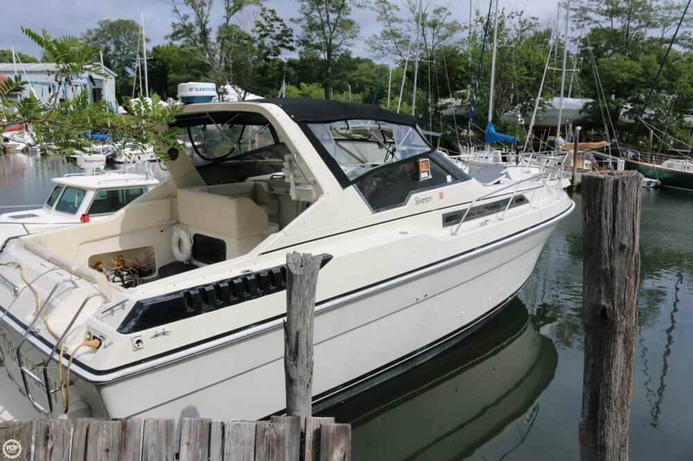 1987 Silverton boat for sale, model of the boat is 34 Express & Image # 13 of 40