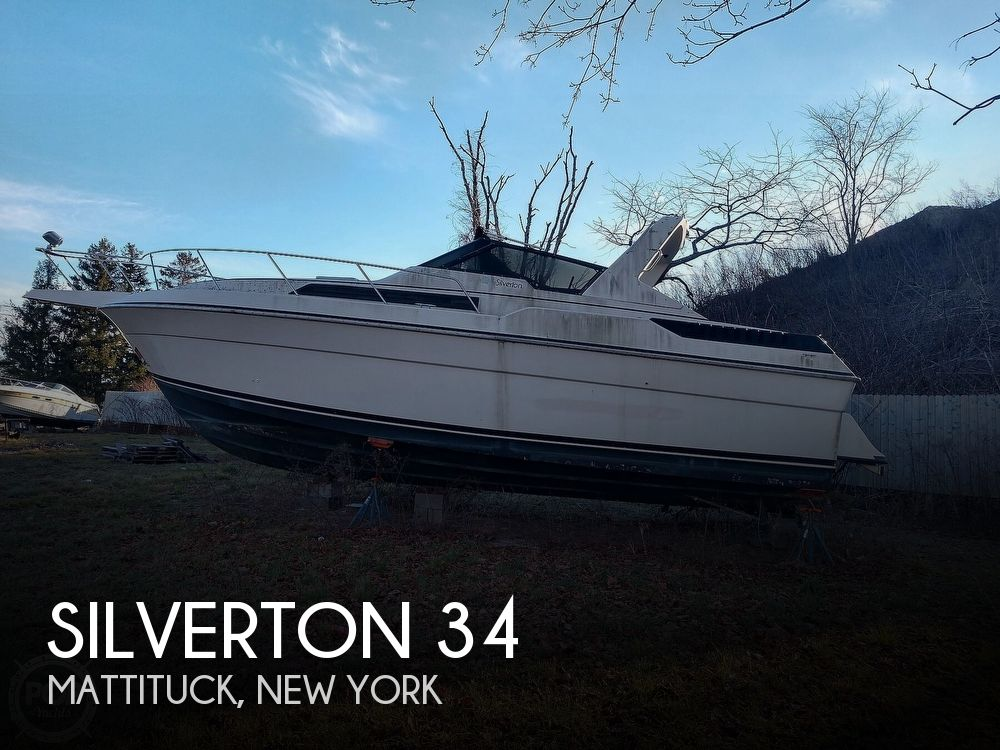 1987 Silverton boat for sale, model of the boat is 34 Express & Image # 1 of 40
