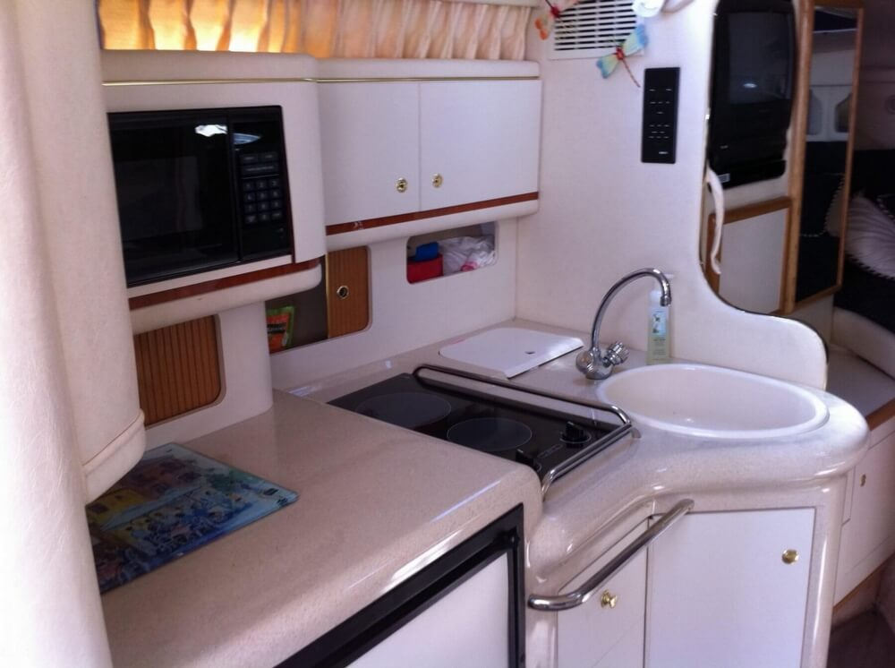 Galley Sink, Stove And Storage