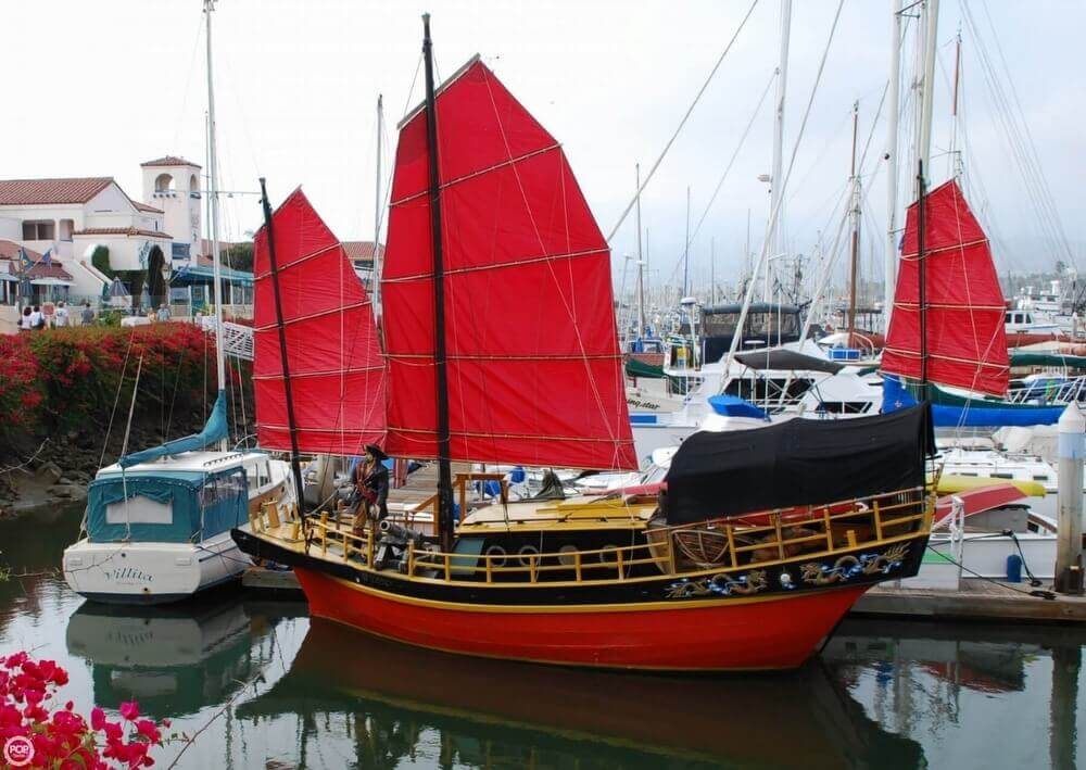 1962 Chinese Junk boat for sale, model of the boat is 34 & Image # 2 of 11