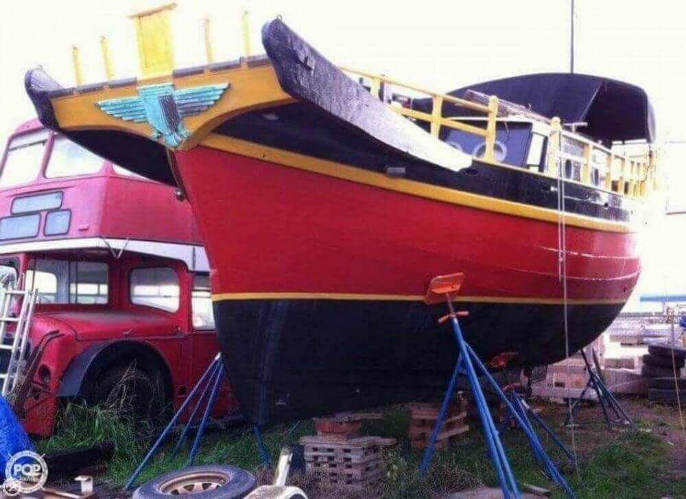 1962 Chinese Junk boat for sale, model of the boat is 34 & Image # 3 of 11