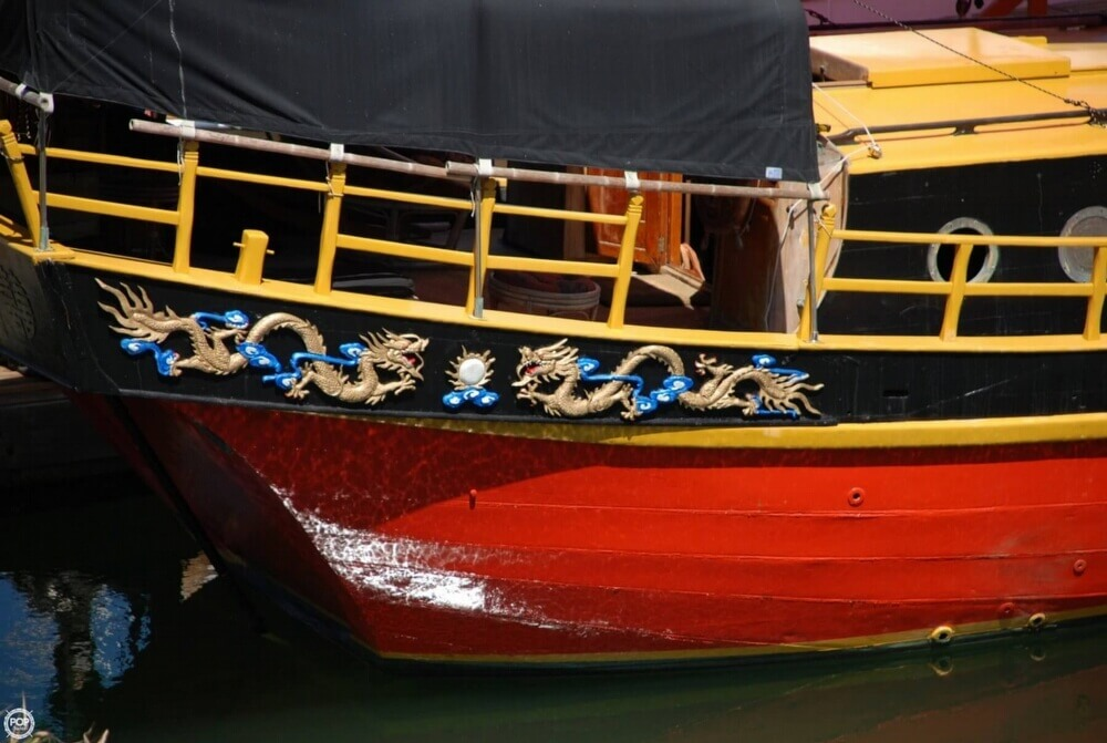 1962 Chinese Junk boat for sale, model of the boat is 34 & Image # 4 of 11