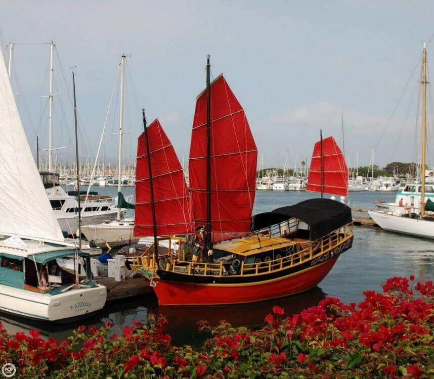 1962 Chinese Junk boat for sale, model of the boat is 34 & Image # 9 of 11