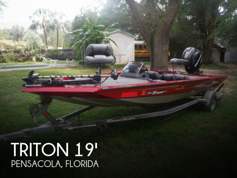 Sold triton vt19 tournament sport boat in pensacola fl for Fishing kayaks for sale near me