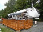 Large Awning System Complete With Attachable 5th Wheel Travel Trailer