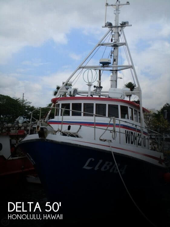 For sale used 1975 delta 50 commercial fishing boat in for Commercial fishing nets for sale