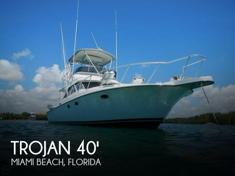 For sale used 1988 trojan 12 meter convertible in miami for Used fishing boats
