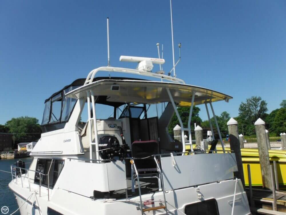 1991 Carver boat for sale, model of the boat is 36 Aft Cabin & Image # 2 of 40