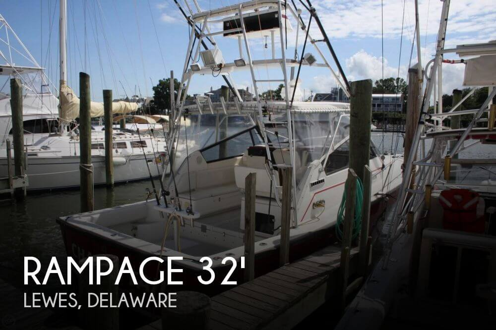 Rampage 33 sport fisher for sale in lewes de for 53 400 for Fishing charters lewes de