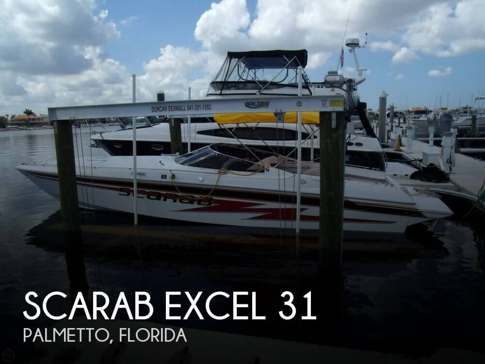 1991 scarab excel 31 for sale by pop yachts