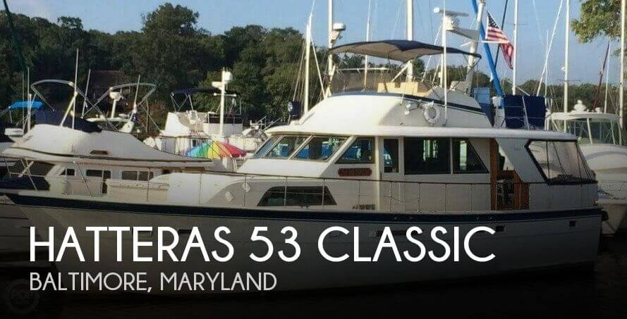 For Sale Used 1979 Hatteras 53 Classic In Baltimore