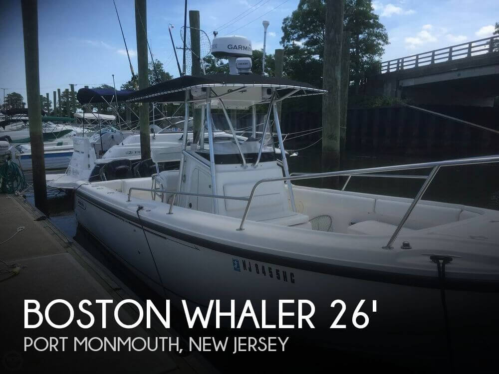 26 foot boston whaler 26 26 foot motor boat in port for Used outboard motors nj