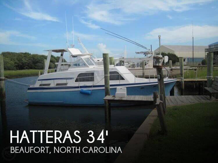 For sale used 1964 hatteras double cabin 34 in beaufort for Hatteras cabins rentals
