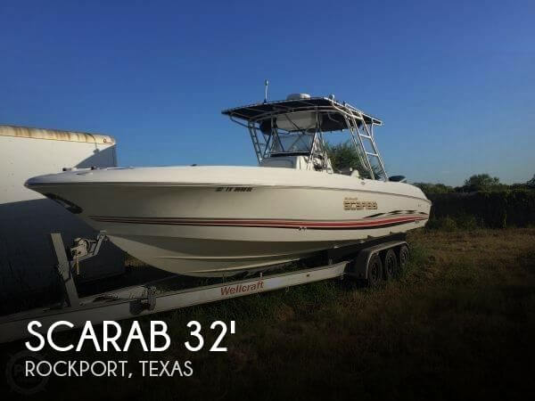 Scarab 32 ccf sport 32 for sale in rockport tx for for Fishing boats for sale in texas