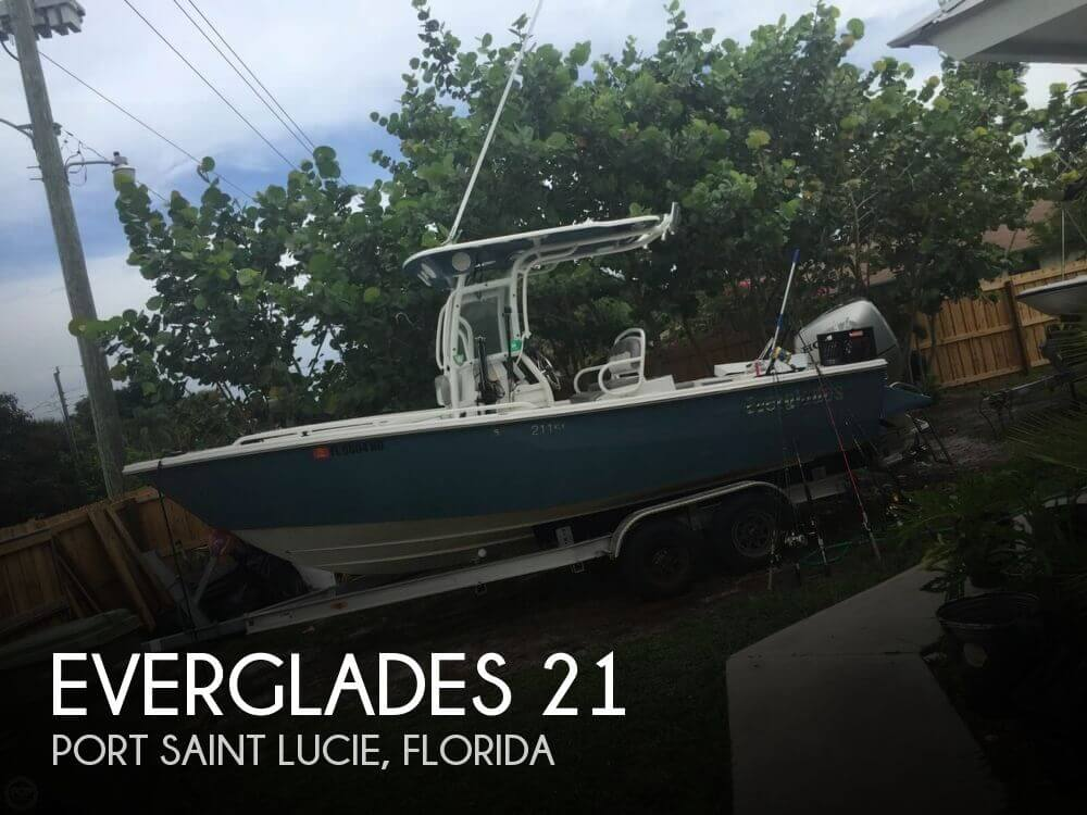Used Everglades Boats For Sale by owner   2006 Everglades 21