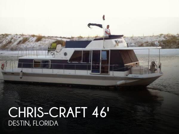 chris craft aqua home 46 for sale in ft walton beach fl for 53 900 pop yachts. Black Bedroom Furniture Sets. Home Design Ideas
