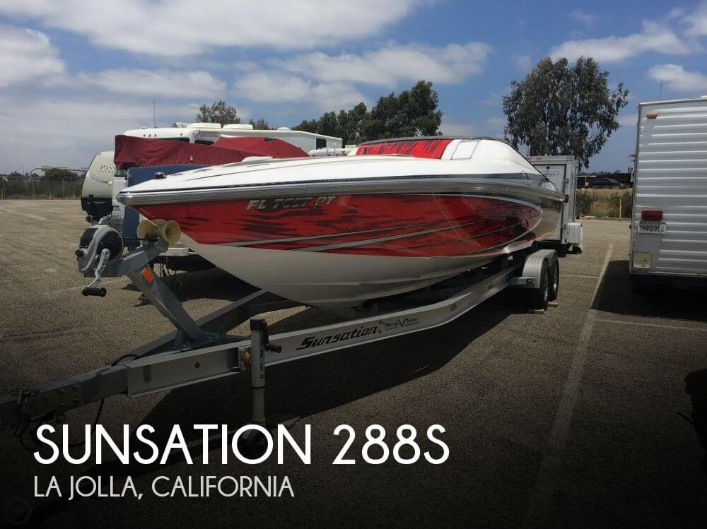 2014 Sunsation boat for sale, model of the boat is 288s & Image # 1 of 40