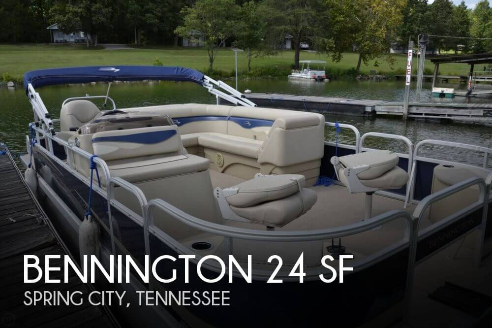 bennington 24 sf for sale in spring city tn for 30 000 On what size motor for 20 foot pontoon