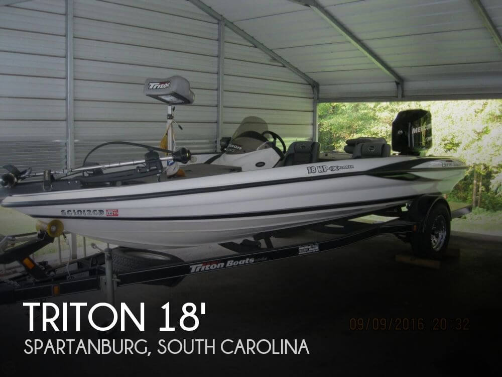 Canceled triton 18 hp explorer boat in spartanburg sc for Bass fishing boats for sale