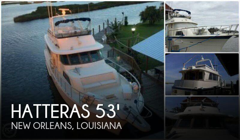 For sale used 1984 hatteras 53 motor yacht extended deck for Used boat motors in louisiana