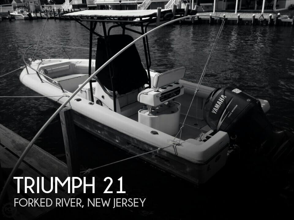 21 foot triumph 21 21 foot triumph motor boat in forked for Used outboard motors nj