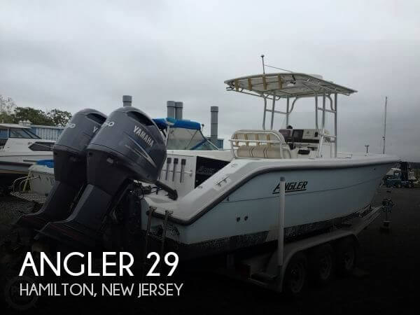 29 foot angler 29 29 foot motor boat in trenton nj for Used outboard motors nj