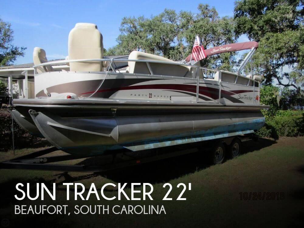 Sun tracker party barge 22 regency for sale in beaufort for Boat motors for sale in sc