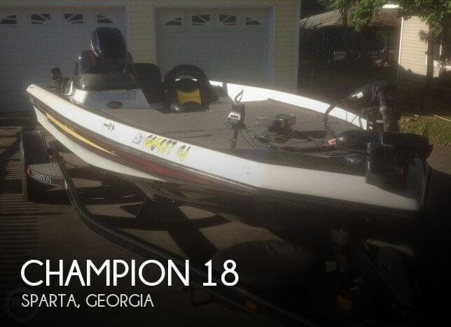 Champion 18 39 boat for sale in sparta ga for 16 000 pop for Bass fishing in georgia