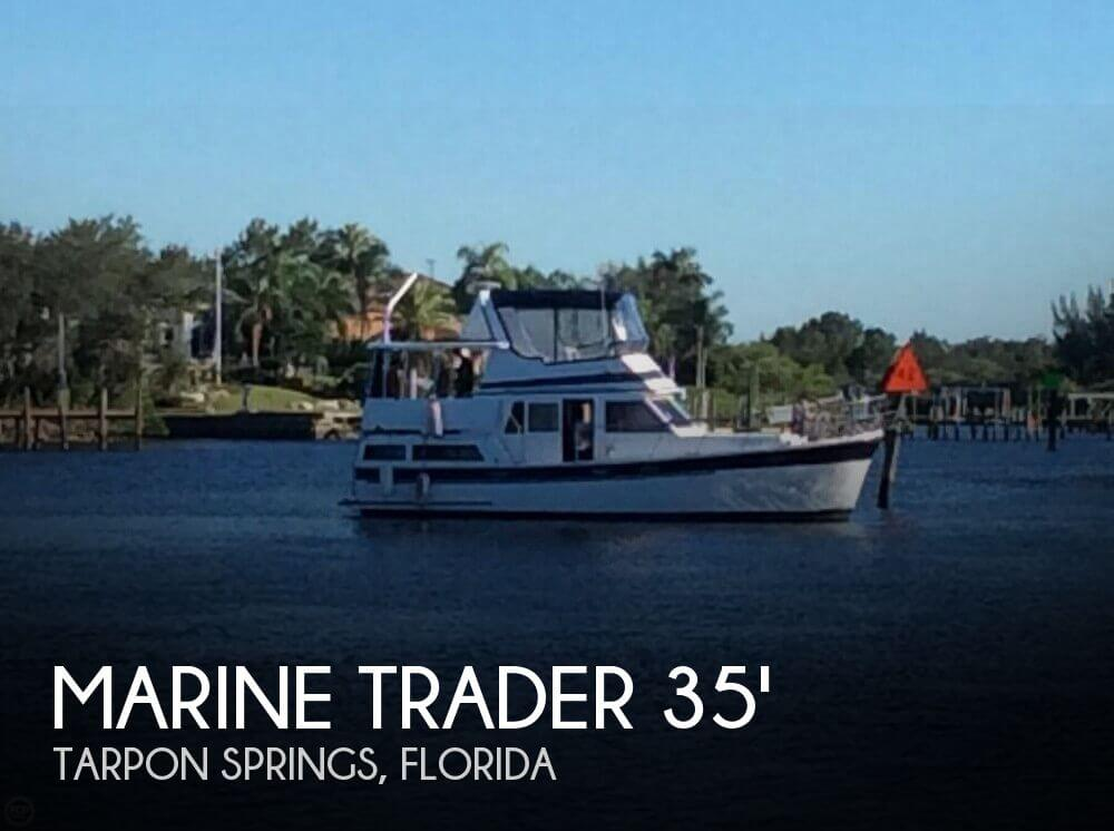 1987 Marine Trader boat for sale, model of the boat is 35 Sundeck Trawler & Image # 1 of 40