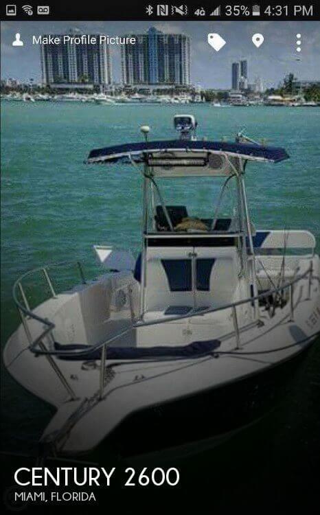 26 foot century 26 26 foot motor boat in cutler bay fl for Century motors of south florida