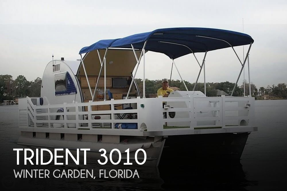 Used Pontoon Boats For Sale in Florida by owner | 2015 Trident 30