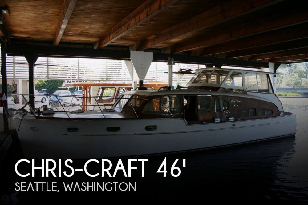 chris craft 46 double cabin flybridge for sale in seattle