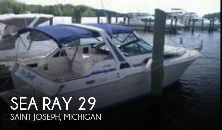 Used Sea Ray Boats For Sale in Michigan by owner   1989 Sea Ray 29