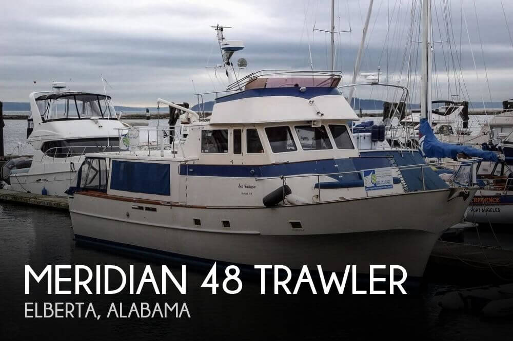 Used Meridian Boats For Sale by owner | 1974 Meridian 48 Trawler