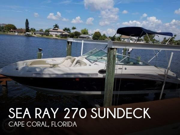 Used Sea Ray Deck Boats For Sale by owner | 2005 Sea Ray 27