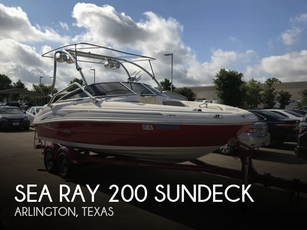 Used Deck Boats For Sale in Texas by owner | 2005 Sea Ray Sundeck 210