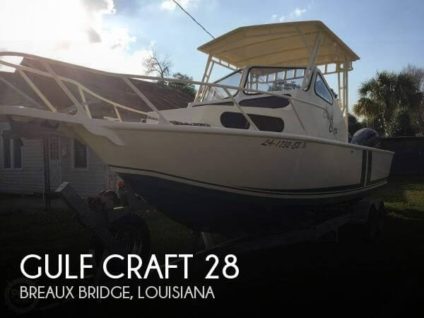 Used Boats For Sale in Lafayette, Louisiana by owner | 1986 Gulf Craft 28