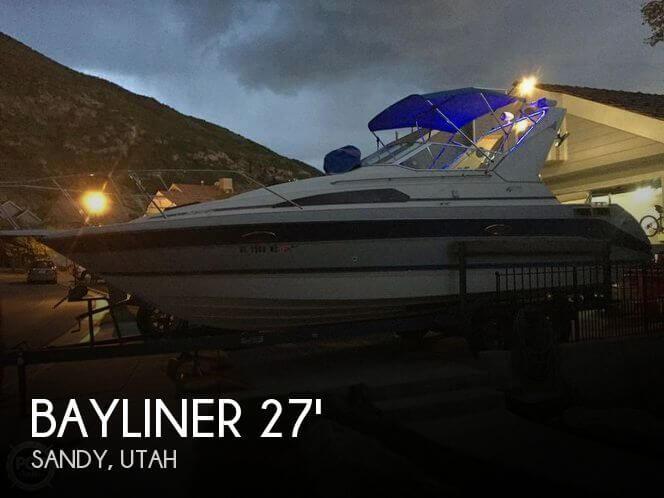 Used Boats For Sale in Salt Lake City, Utah by owner | 1989 Bayliner 27