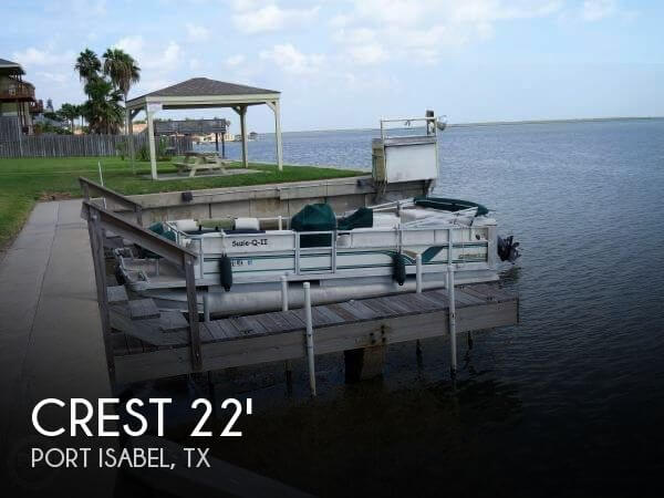 Used Pontoon Boats For Sale by owner | 1999 22 foot Crest SUPER FISHERMAN