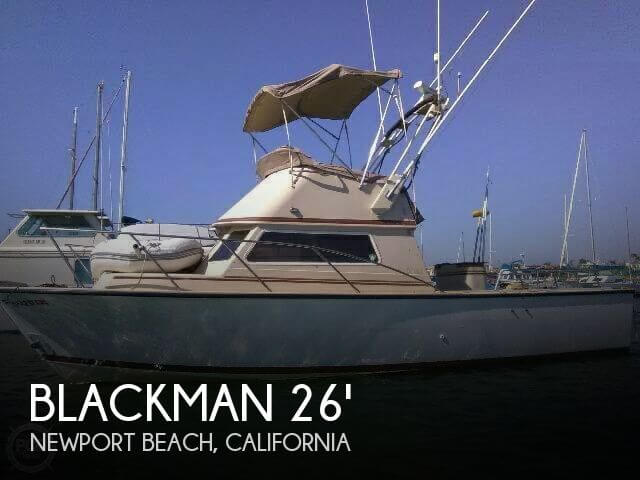 Used Fishing boats For Sale in California by owner | 1983 Blackman Billfisher 26