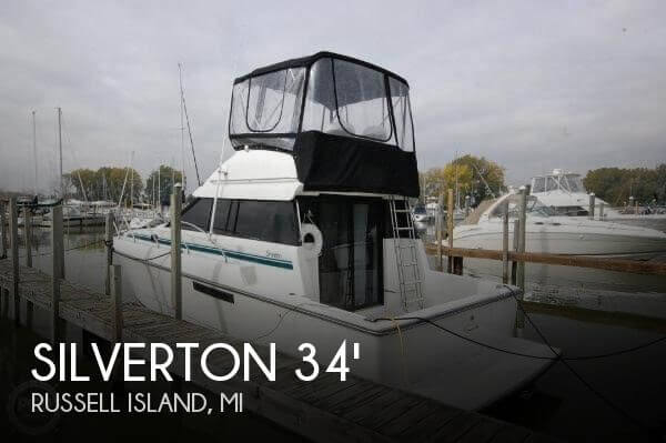 Used Fishing boats For Sale in Michigan by owner | 1992 Silverton 34 Convertable