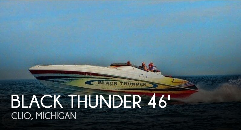 Used Boats For Sale in Flint, Michigan by owner | 2002 Black Thunder 46