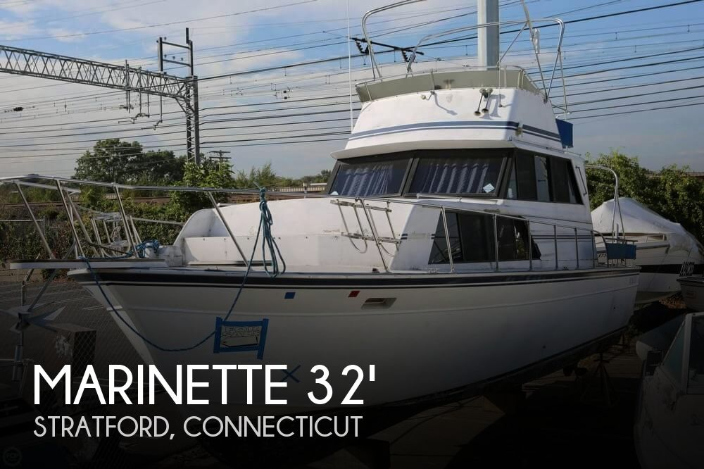 1989 MARINETTE 32 FLY BRIDGE SEDAN CRUISER for sale