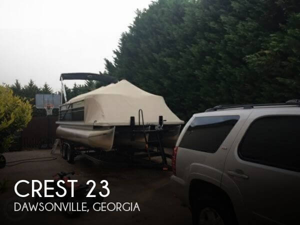 Used Pontoon Boats For Sale in Georgia by owner | 2016 Crest 23