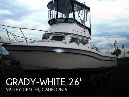 Used Fishing boats For Sale in California by owner | 1991 Grady-White 26 Atlantic Flybridge