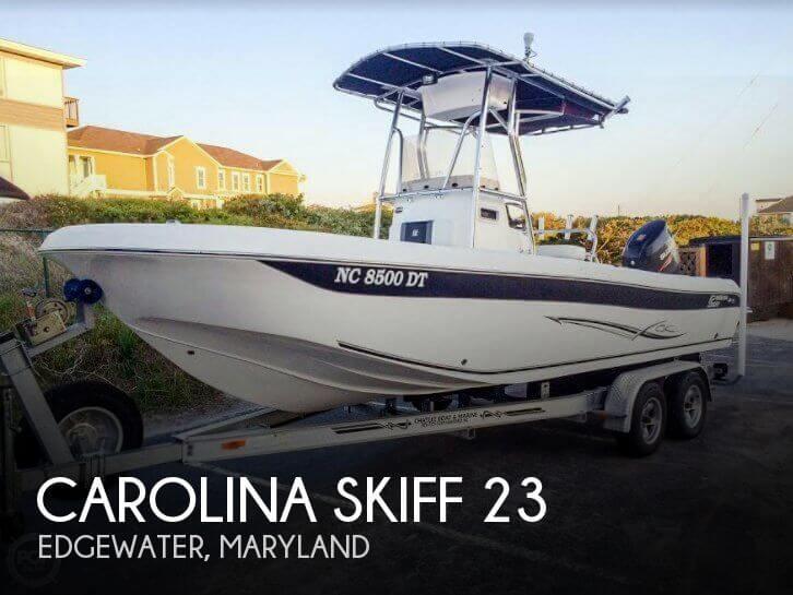 Used Ski Boats For Sale in Maryland by owner   2012 Carolina Skiff 23