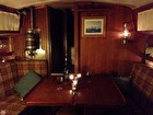 Classic Wood Interior With Cabin Door For V Berth.